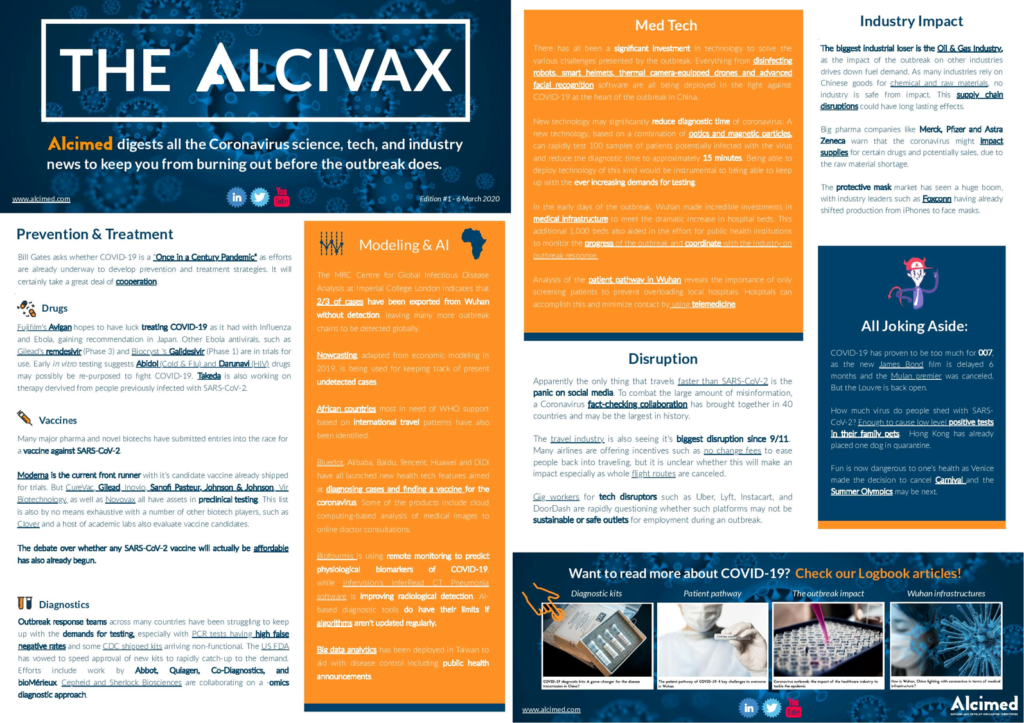 Alcivax 1st edition - Weekly digest on COVID-19 coronavirus by Alcimed