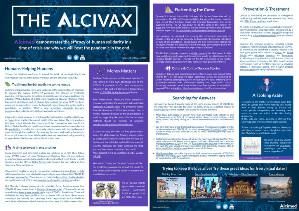 Alcivax 3rd edition - Weekly digest on COVID-19 coronavirus