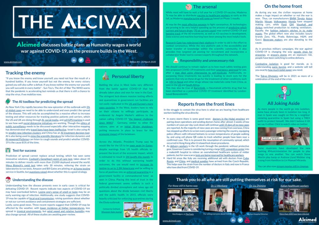 Alcivax - Alcimed weekly digest on Covid19 - Coronavirus