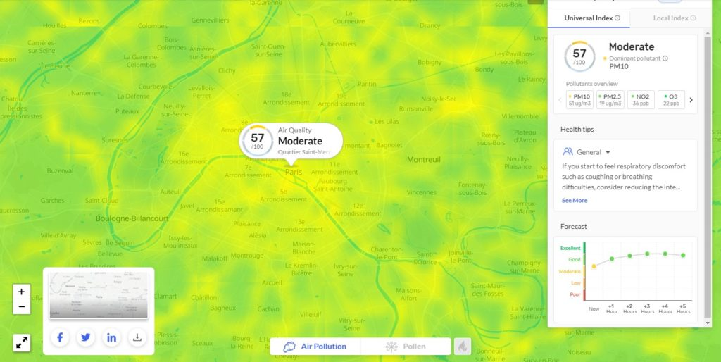 Mesure de la qualité de l'air en temps réel opportunité satellites