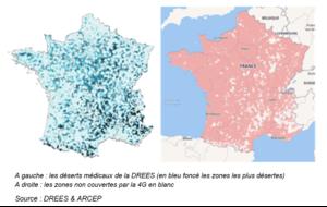 Télémédecine et télécommunications satellitaires : carte des déserts médicaux et zones blanches