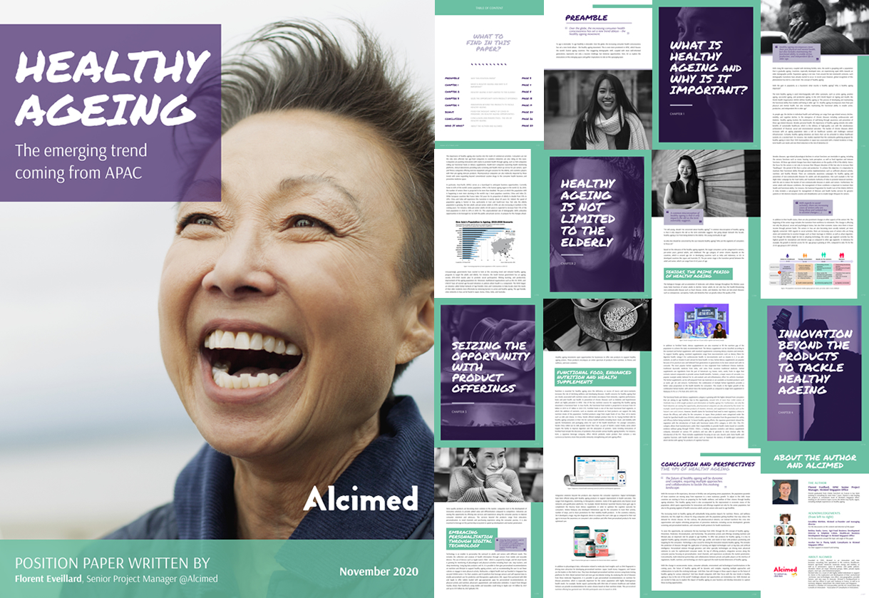 Alcimed position paper/livre blanc Healthy Ageing
